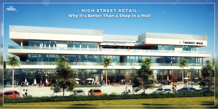front view of market walk a high street retail development by the vatika group