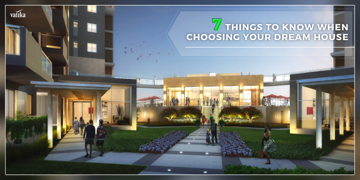 rendering of people walking in a park of a residential building by vatika group