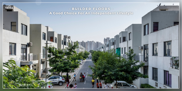 children playing in the streets of builder floors developed by the vatika group