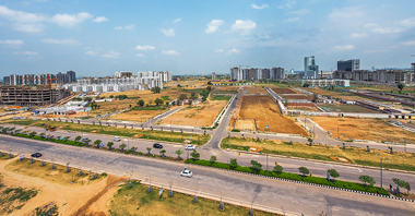 an aerial view of the plots for sale in vatika inxt a project by vatika group