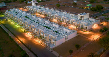 an aerial view of the ivy homes villas in vatika infotech city by vatika group