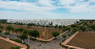 an aerial view of the plots in jaipur in vatika infotech city by vatika group